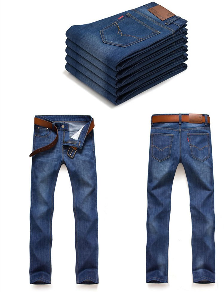 Male Pants  Casual Wear  Straight Jeans Full Length Good Quality Large Size Fashion Trend Three Colors Slim Looking Cozy cool