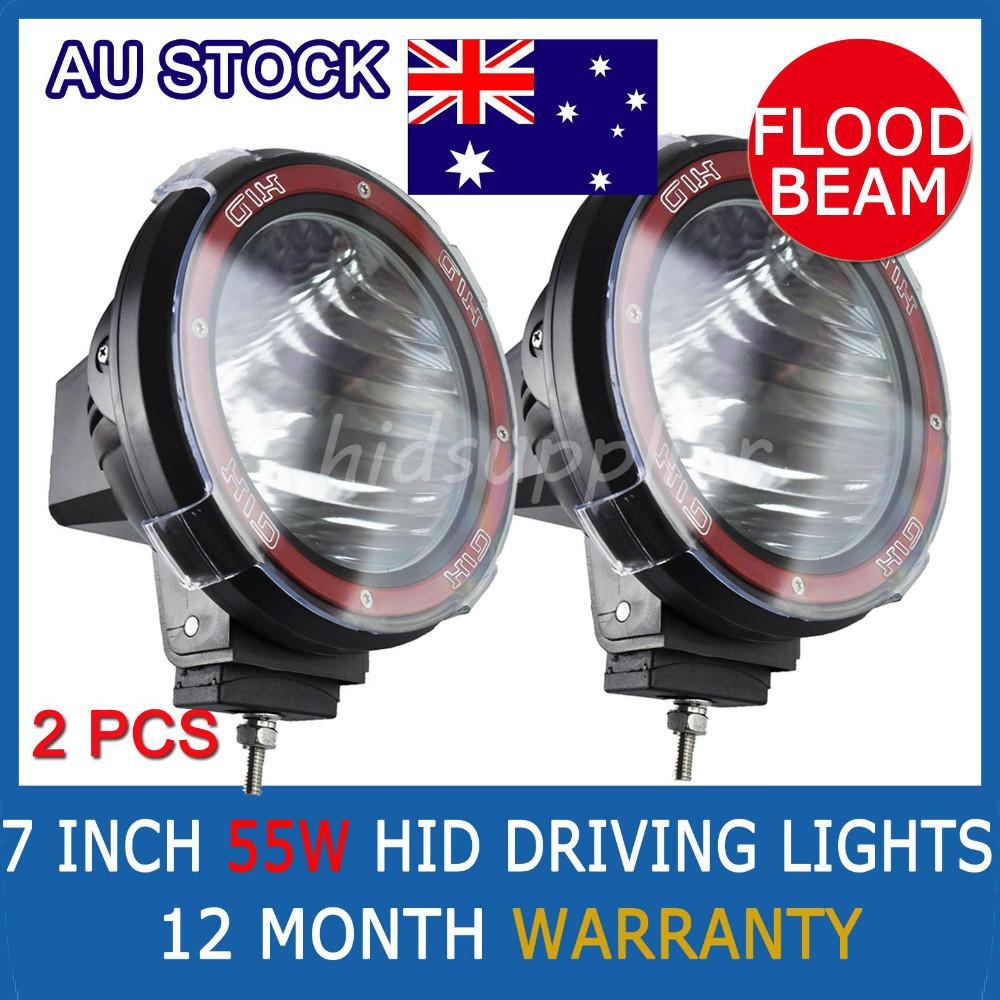 "55W 7"" truck/Boat fog lamp hid driving lights HID off road light xenon work lighting flood beam euro beam(China (Mainland))"