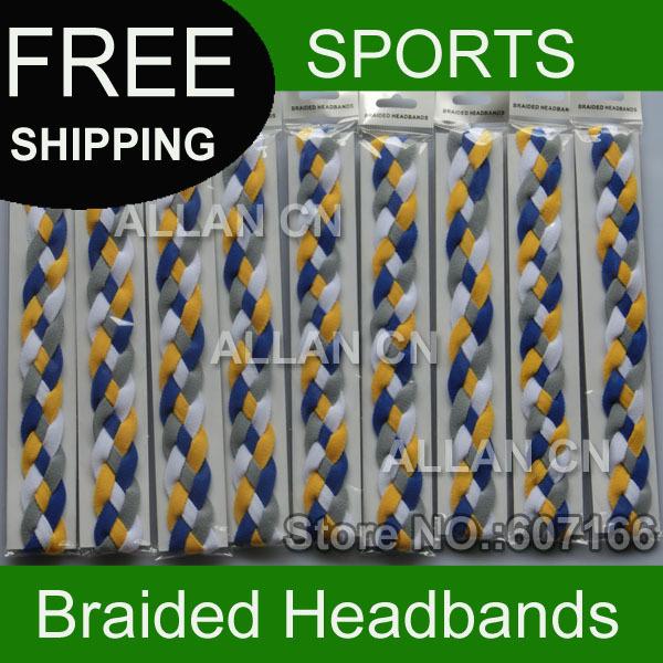 Wholesale 900pcs Women's baseball sport Accessories Boutique quad Braided Headband(China (Mainland))