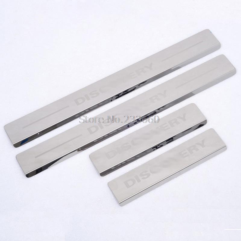 Door sill scuff plate Threshold Pad Tread Plate Welcome Pedal Fit For LAND ROVER DISCOVERY 3/4 LR3 LR4 2005-2014 & Lr3 Door Sill Promotion-Shop for Promotional Lr3 Door Sill on ... Pezcame.Com