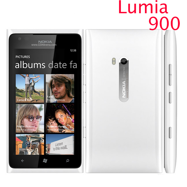 Nokia Lumia 900 Unlocked Original Mobile Phone 3G GSM WIFI GPS 8MP 16GB memory Windows os Refurbished 1 year warranty(China (Mainland))