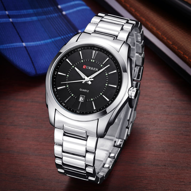 Curren Brand Watches Fashion Casual Quartz-Watch Stainless Steel Wrist Watches Mens Business Watch Man Day Date Clocks Relogios(China (Mainland))