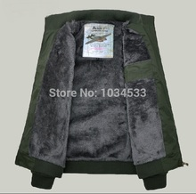 Thickened villi collar with uniform Military Style Jackets Pilot Coat Usa Army Air Force Waterproof and windproof warm Jacket(China (Mainland))