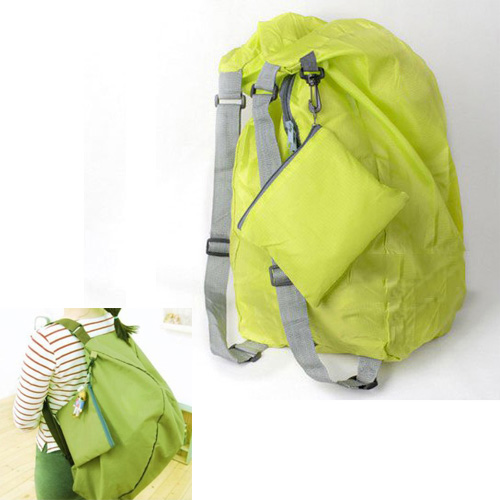 ASDS Green Multifunction Convert Foldable Storage Bag Shoulder Bags Backpack(China (Mainland))