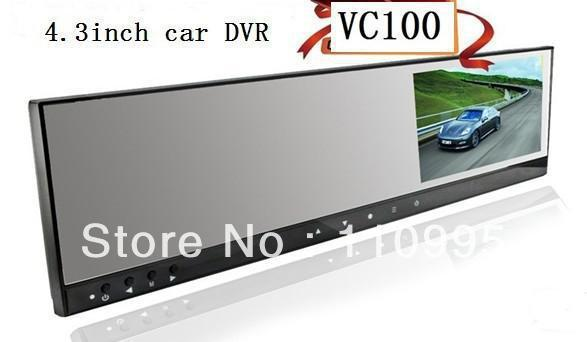 Wholesale HD Car DVR 4.3 inch monitor rearview mirror with wireless backside camera