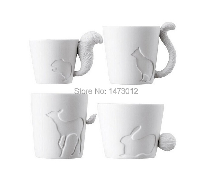 2pcs lot Japan Kinto Authentic Candle Light Forest Animal Relief Bone China Mugs Ceramic Coffee Cups