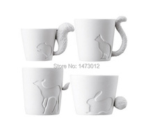 2pcs/lot Japan KINTO Authentic Candle Light Forest Animal Relief Bone China Mugs Ceramic Coffee Cups Free shipping Wholesale