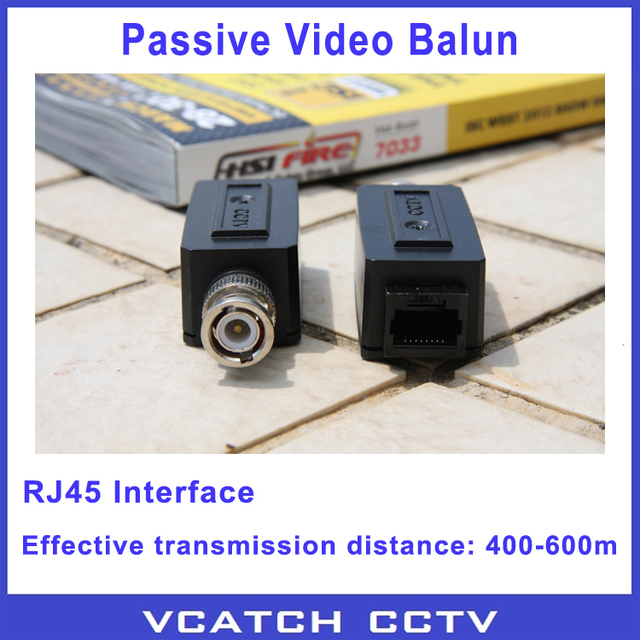 Vcatch 5 Pairs/lot CCTV RJ45 Video Balun UPT/Cat5 BNC Transceiver