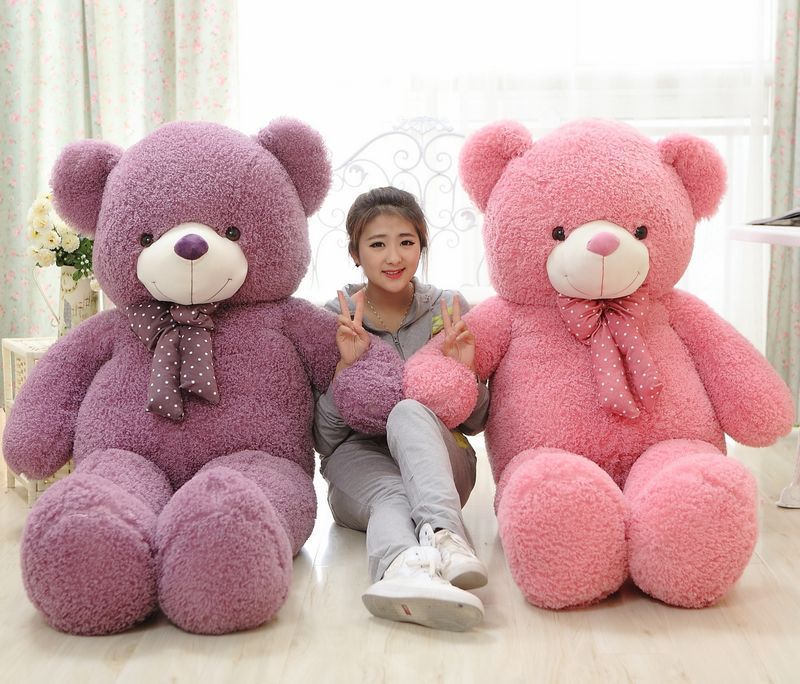 Здесь можно купить  160cm pink or purple teddy bear plush toy soft hugging pillow Valentine