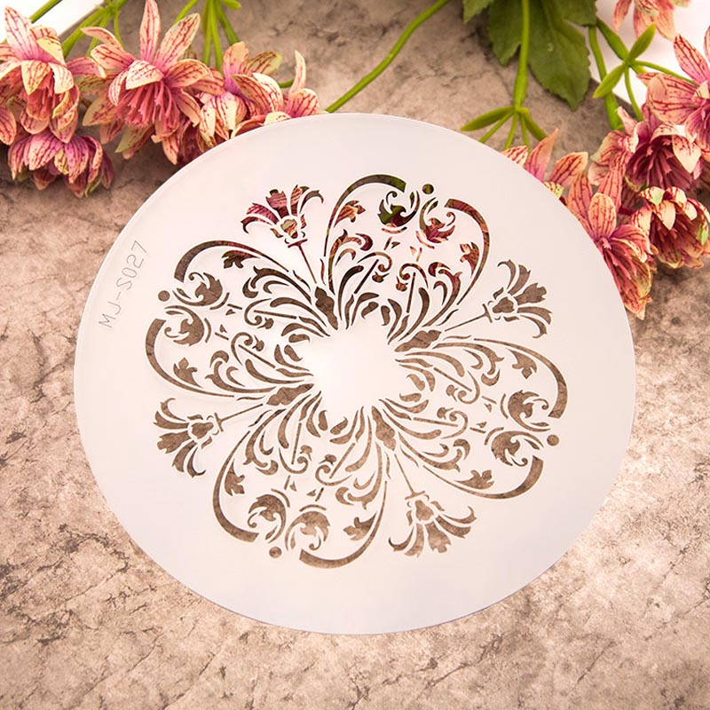 Retro Flourish Layering Stencils for DIY Scrapbooking/photo album Decorative Embossing DIY Paper Cards Crafts(China (Mainland))
