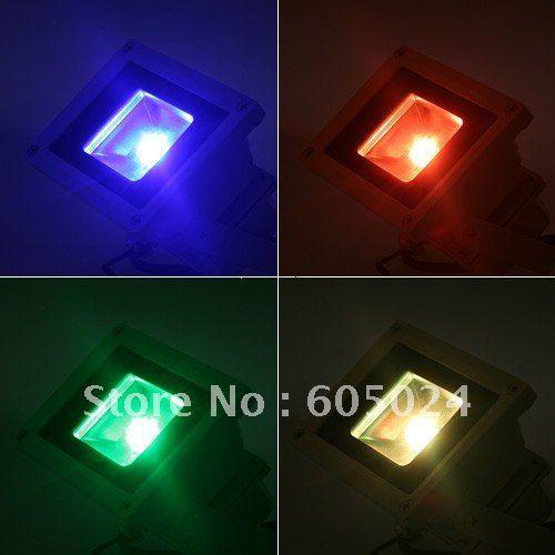 Free Shipping 10W 85V-265V Color RGB Flash LED Flood light Outdoor Floodlight