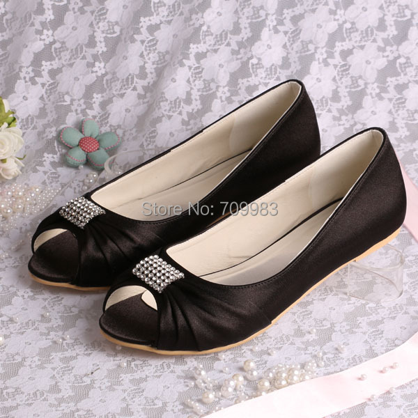 buy 13 colors magic bride flat black bridal shoes