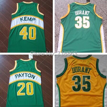 Free Shipping Kevin Durant Jersey Seattle Sonics Wholesale Shawn Kemp Cheap Basketball Jersey Gary Payton Throwback Jerseys(China (Mainland))