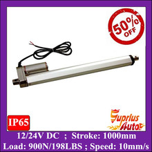 50% Discount ! Super 1000mm (1M) stroke length 12v linear actuator, 900N/ 198lbs force electric linear actuator, actuator linear(China (Mainland))
