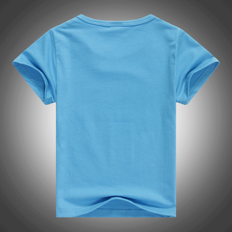 Free shipping pure color round collar children blank t for Kids t shirts in bulk