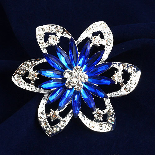 Brooch pins women girl dress red blue new 2014 rhinestone Brooches - Jewelry Home's store