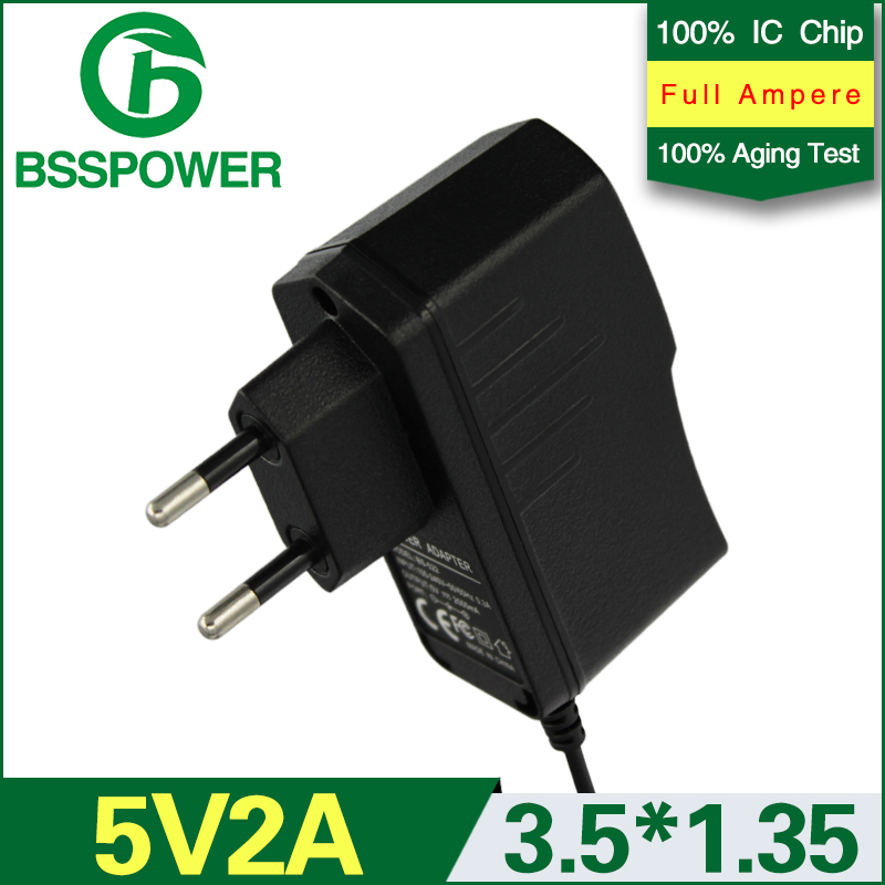 switching power adapter 5v 2a adaptor 2000mA with EU plug DC connector 3.5*1.35mm mobile phone used(China (Mainland))
