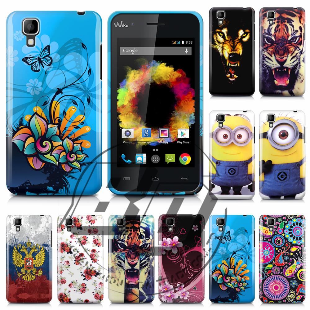 Wiko Sunset TPU Plastic Butterfly Flower Printed Soft Back Cell Phones Gel Case Bags Cover - jemeiy second store