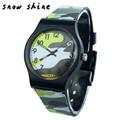 snowshine 30 Camouflage Children Watch Quartz Wristwatch For Girls Boy free shipping