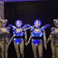 AS92 Colorful LED light dance ballroom costumes stage sexy dress cloth wear Bar bra party singer