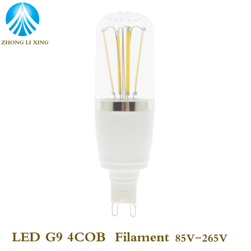 5X Mini G9 LED Lamp COB 7W 450LM Filament LED G9 Light Bulb AC85-265V 110V 220V Crystal Chandelier Replace Halogen Lights(China (Mainland))