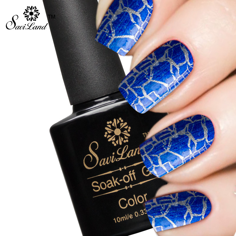 Saviland 1pcs Crackle Crack UV/LED Gel Nail Polish Fashion 12 Colors Gel Cracking Shatter Nails Lacquer Gel Varnish(China (Mainland))