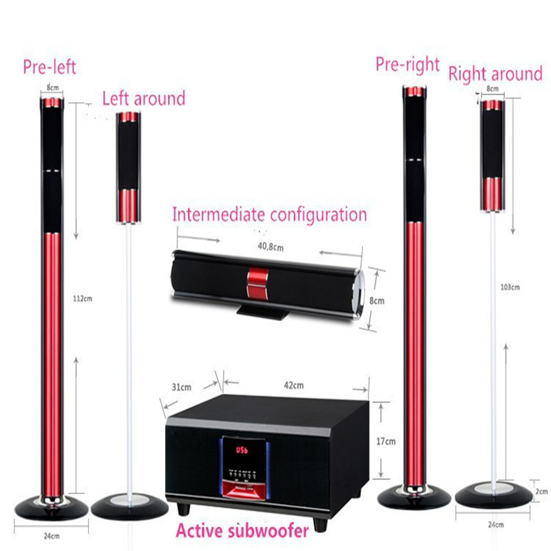 New 5.1 home theater system powerful 400W 5.1 Channel Home Cinema System Subwoofer Bluetooth speakers with Wireless microphone(China (Mainland))