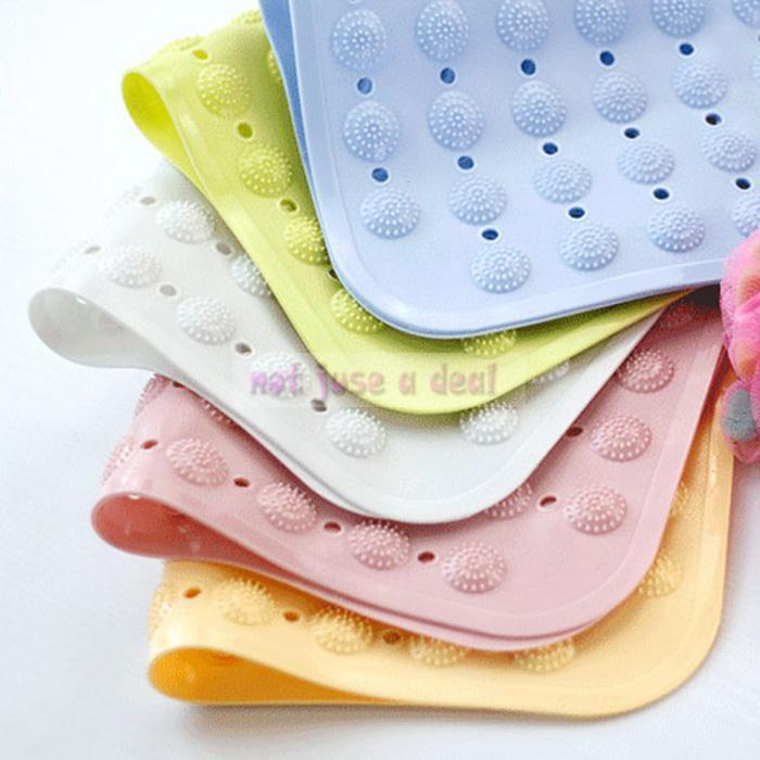 High Quality PVC Bathroom Door Dot Massage Bath Mats Slip Resistant Feet Antislip Mats(China (Mainland))