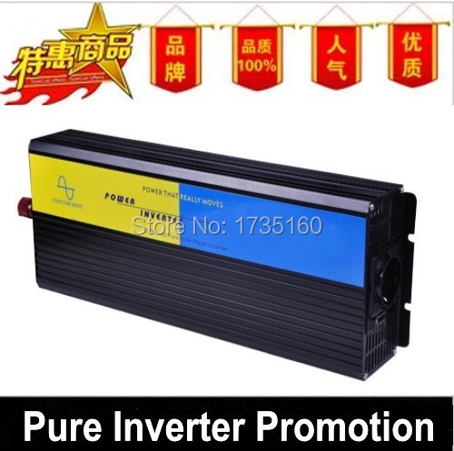 HOT SALE!! 2500W Off Grid Invertor Pure Sine Wave Invertor DC12V or 24V or 12V input, Wind Solar Power Invertor(China (Mainland))