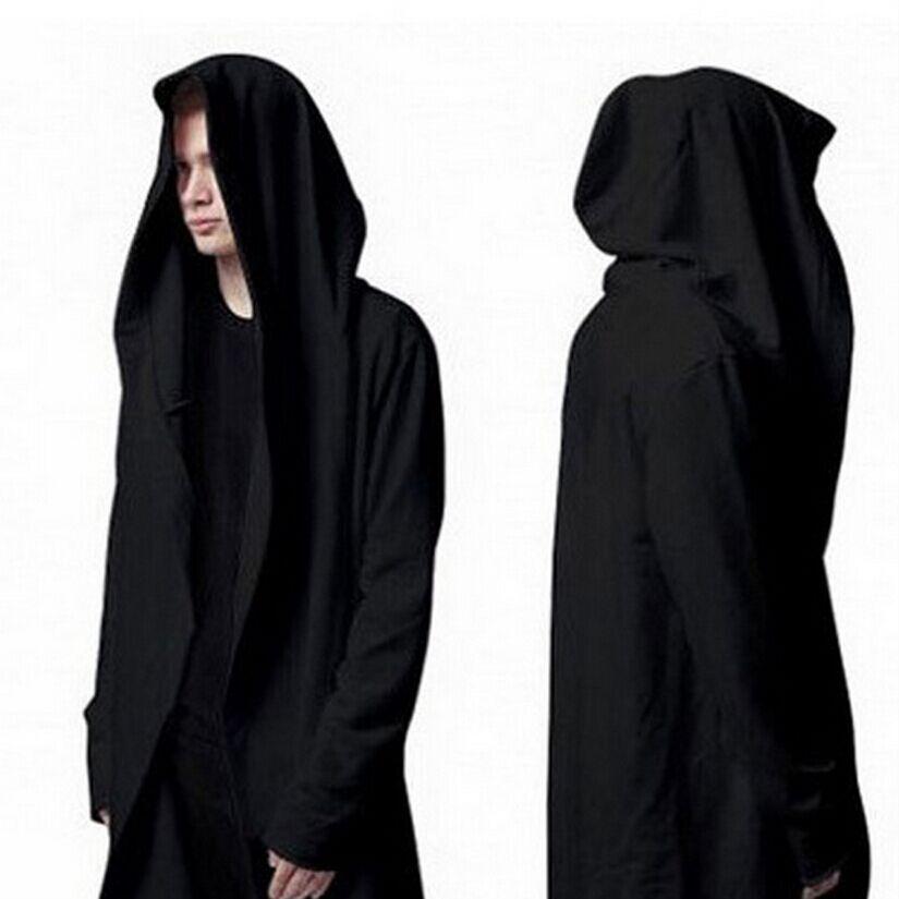 Fashion Original Design Spring Autumn Brand Men's Sweatshirt Hoodie Men Hood Cardigan jackets Black Cloak Outerwear 6010603A(China (Mainland))