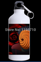 Custom Cool Design Anime Naruto Theme Uchiha Obito Printed Water Bottle Unique Kettles for Tour(China (Mainland))
