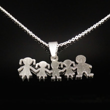 Buy Stainless Steel Girls Boys Necklace Neckless Women Mama Kids Jewelry Accessories Silver Plated Girl Doll necklaces Jewerly N2310 for $1.98 in AliExpress store