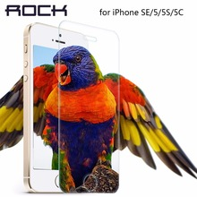ROCK Premium Tempered Glass Screen Protector For iPhone SE 5 5S 5c Ultra Thin 0.3mm 2.5D 9H Protective Film +Cleaning Kit(China (Mainland))
