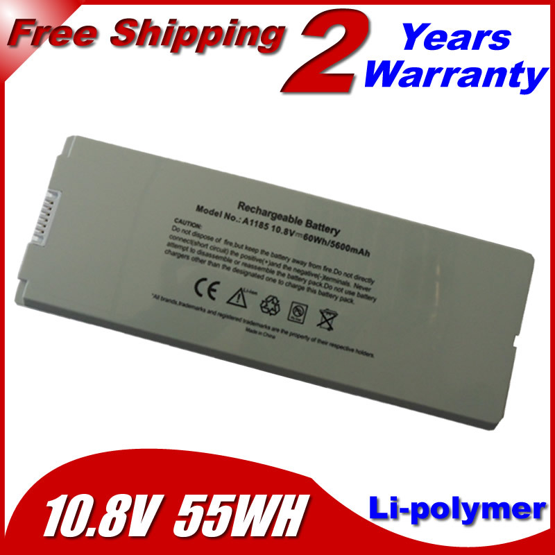 """55wh White Laptop Battery For apple MacBook 13"""" MA254 MA255 MA699 MA700 a1185 ma566 ma561 MA561FE/A MA561G/A MA561J/A(China (Mainland))"""
