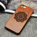 Retro Wolf Real Handmade Wood Case For Iphone 5 5s 6 6s 6 plus Wood Carving Case + PC ,free shipping