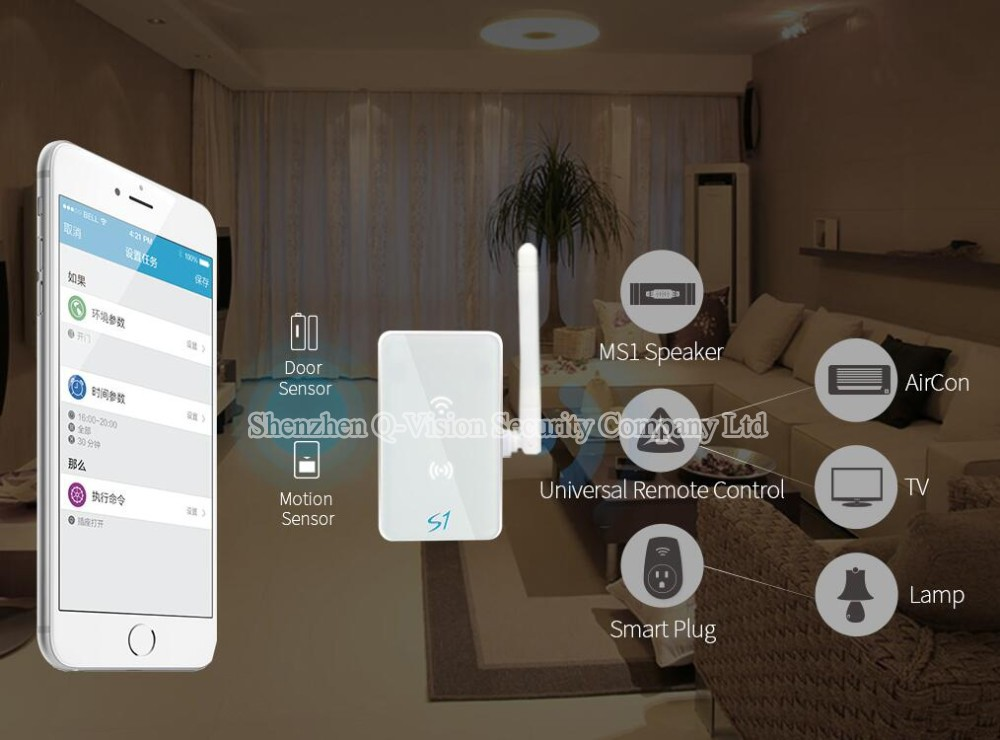 Broadlink S1C Smart Home Kit 433MHZ S1 Smartone Door Sensor Motion Detector Security System Control by IOS Android Automation