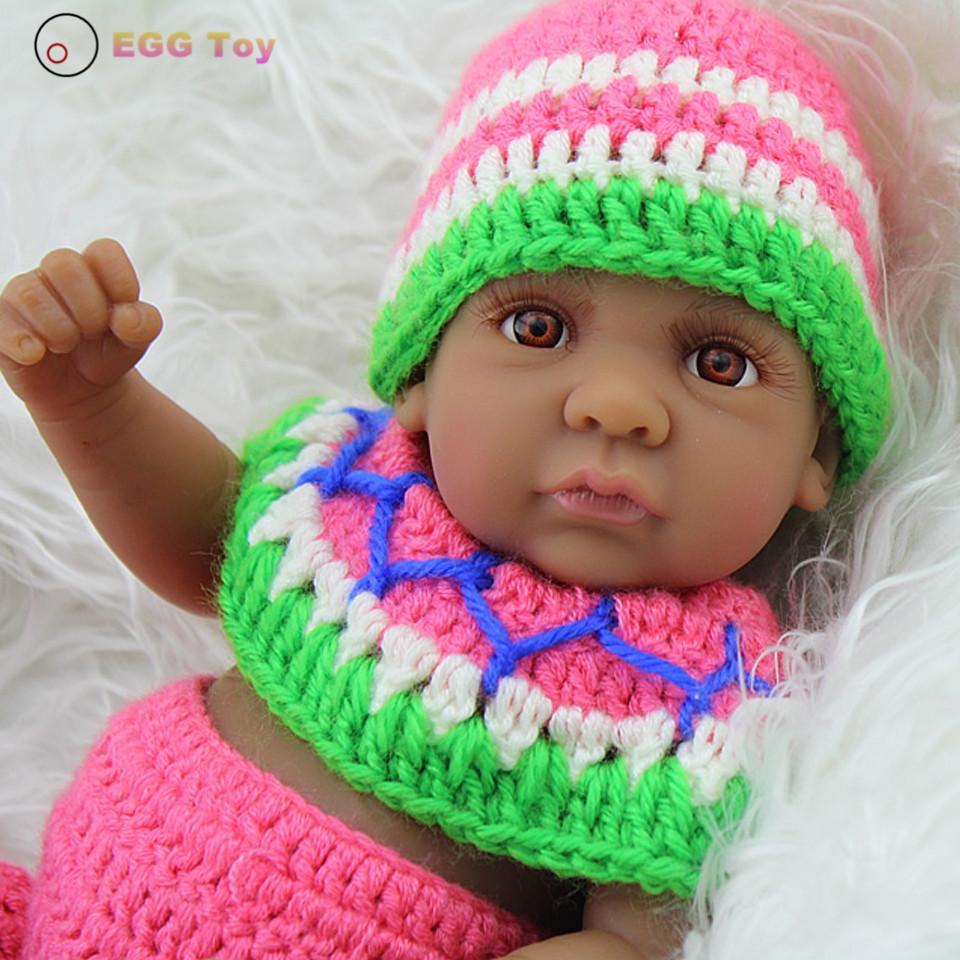 Фотография 28cm Black Full body Silicone Reborn Baby boy Dolls fairy doll Lifelike Doll Play House Toy Educational toy Gift Doll Reborn
