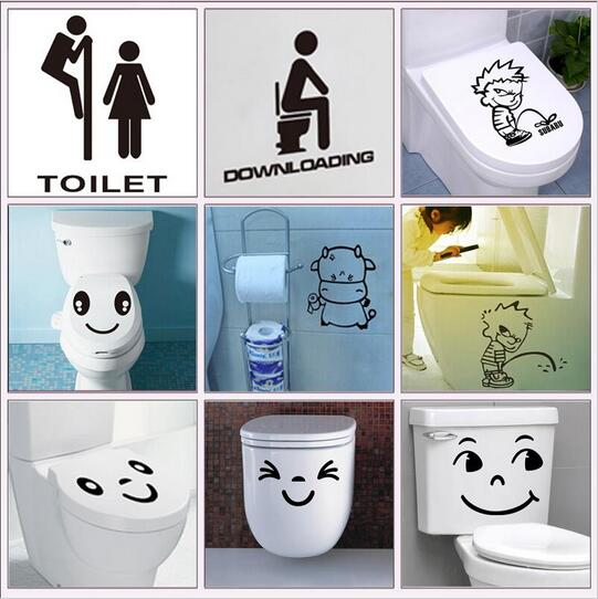 waterproof bathroom toilet sticker door glass stickers wall decal 314 home decoration vinyl art pvc posters 5.5(China (Mainland))