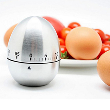 Buy Egg Shaped Stainless Steel Timer Kitchen Timer Mechanical Alarm Clocks 60-minute for $4.80 in AliExpress store