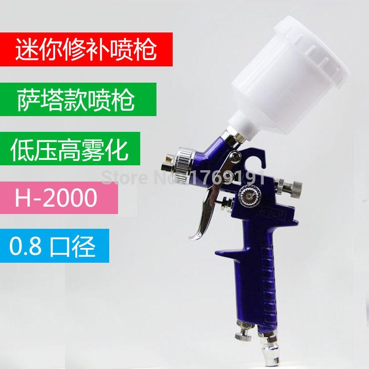 Здесь можно купить  125ml 0.8mm HVLP Air Spray Paint Gun Set Car Auto Painting Kit Automotive Shop Paint Gun   Инструменты