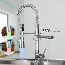 """Buy 20"""" Spray Kitchen Torneira Cozinha LED Light Pull Swivel Chrome Spray 97168D009/2 Basin Sink Vessel Tap Mixer Faucet for $51.80 in AliExpress store"""
