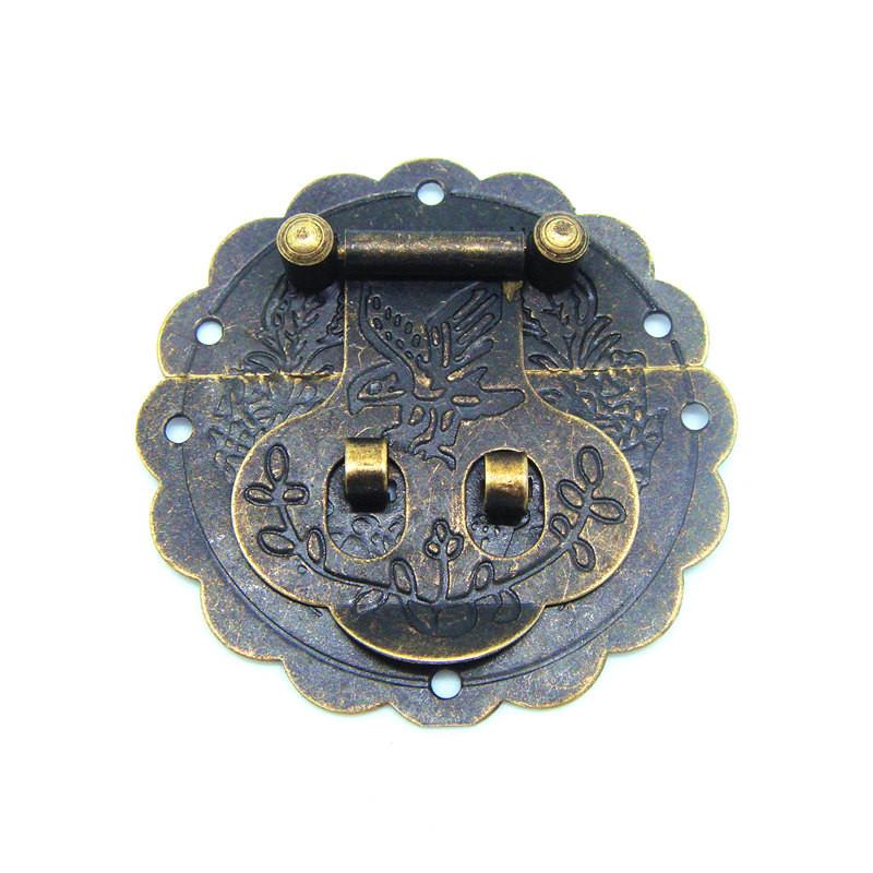 20pcs 60mm Antique small hasp lock buckle with retro tin trunk lock hasp 6CM small dark bird buckle jewelry box latches<br><br>Aliexpress
