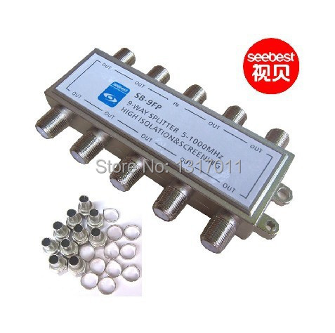 Seebest SB-9FP 9 way CATV tap-off and splitter(C series)CATV direcitional coupler Outdoor splitter&tap off(China (Mainland))