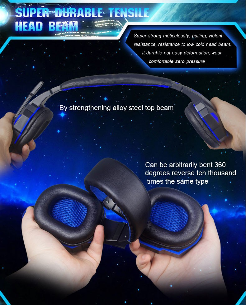 PC780 Deep Bass Gaming Headset Headphone With Mic For Computer Luminous Headphones Headset for PC Gamer Ecouteur Headband