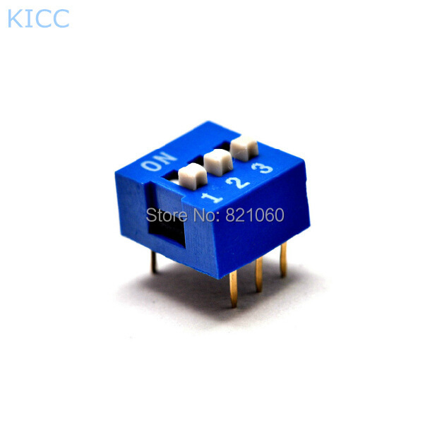 Smooth 3P 2.54mm Blue Toggle switches / 3Pin Dialing switch / DIP switch (10pcs/lot)<br><br>Aliexpress