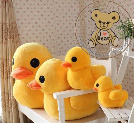 20cm Hongkong Big Yellow Duck Soft Plush Stuffed Toy Kids Girl Gift 20cm/30cm/50cm/70cm - Great Store store