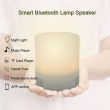 NEW Wireless Bluetooth Speaker Portable Mini Music Loudspeakers for Phone PC with Mic White LED Night Light Support TF Card Slot(China (Mainland))