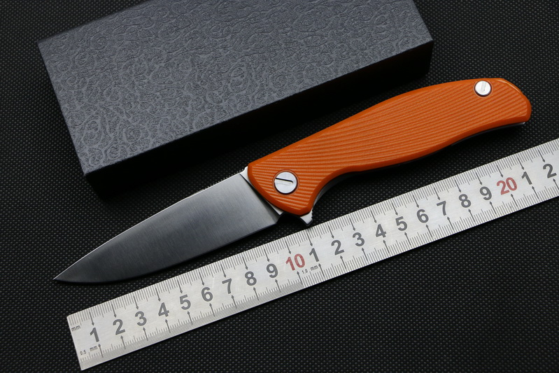 Green thorn 95 Hati Flipper folding knife bearing D2 blade G10 Steel handle outdoor camping hunting pocket fruit knife EDC tools<br><br>Aliexpress