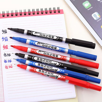 1 pack 12 pcs double sides marker pen liquid ink type school and office 3 colors upgrade ink Deli s560<br><br>Aliexpress