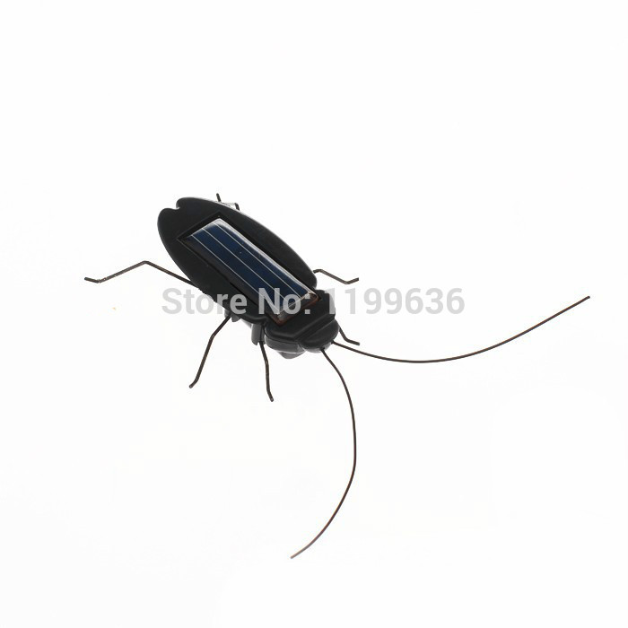 Free shipping Power Saving Toy for Children or your leisure time Novel Solar Powered Cockroach (Black)(China (Mainland))